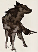 Wolf Wild Jagd Bild Temporary Temporäre Klebe Einmal Tattoo 15 x 21 cm HB834