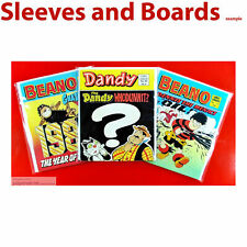 Dandy Comic Library  New Comic Bags and Boards/Backing Sheets  x 10 .