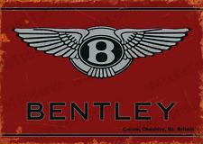 More details for bentley vintage metal sign bar garage gift alcohol plaque workshop tin man cave