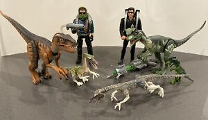 1993 Vintage Jurassic Park Series Dinosaur And Figure Lot JP Kenner Toy