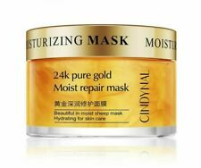 Mask Face Skin Care 24k Pure Gold Moist Repair Hydration Moisturising Pores New