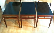 Mod Retro Decor 1950s John Keal-Brown Saltman Walnut Folding End Tables Set of 3