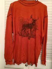 Redhead Brand co. mens long sleeve thermal shirt Buck Print Sz L