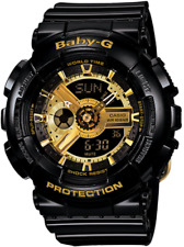 Casio Baby G Shock BA110-1A Black and Gold Women's Watch New With Tags
