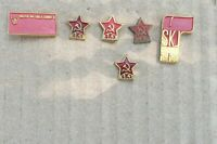 Pin 6 pins badge anstecknadel League of Communist party Yugoslavia communism