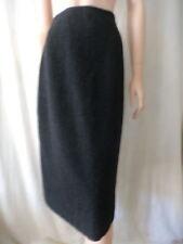 Wool Blend Below Knee Straight, Pencil Regular Size Skirts for Women