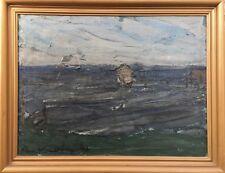 BÖRGE BOKKENHEUSER (1910-1976) BLICK AUF DAS MEER - 1946 - EXPRESSIV 71 x 91 cm