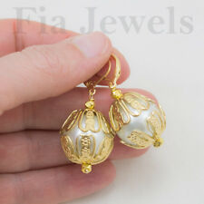 ORECCHINI Vittoriani Grandi perle e Filigrane EARRINGS Victorian Big Pearls