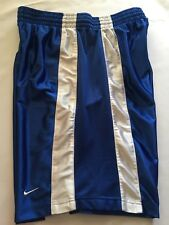 Nike Mens 100% Polyester Blue Basketball Drawstring Shorts Size Large