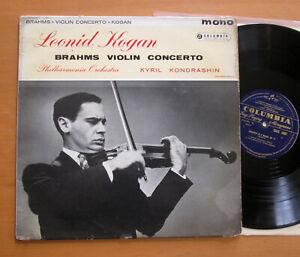 33CX 1692 Brahms Violin Concerto Kogan Kondrashin Columbia Mono ED1 (= SAX 2307)