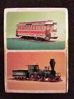 Box of 2 Vintage Playing Card Decks Streetcar Train Locomotive Smithsonian Photo