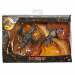 Mattel Dimorphodon 2-Pack Amber Collection Jurassic Park UK New & MISB