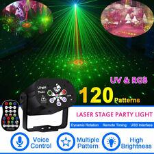 RGB UV 120 Muster Laser Projektor USB LED DJ Bühnenbeleuchtung Partylicht Disco