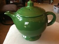 RARE Vintage Mid Century HLC Fiesta Fiestaware Dark Green Medium Sized Tea Pot