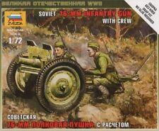 Zvezda 1/72 Soviet 76mm Infantry Gun w/ Crew # 6145