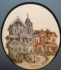 DEBBIE PATRICK LIMITED EDITION SIGNED VICTORIA HOUSES WATERCOLOR LITHOGRAPH
