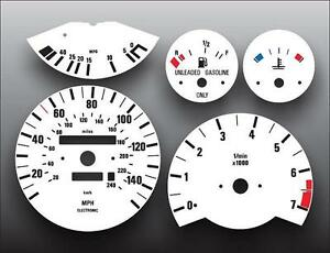 1984-1991 E30 BMW 3 Series M3 325 325e 325i Instrument Cluster White Face Gauges