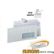 Buste bianche commerciali 11x23cm con finestra 500pz strip adesivo BLASETTI