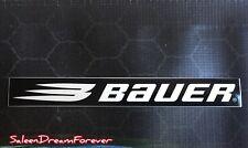 BAUER HOCKEY EQUIPMENT BLACK WHITE STICKER FROM 2000 ICE HOCKEY LACROSSE SKATING