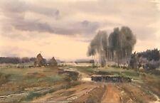 "Original Painting Landscape Kirill Malkov Russian Listed Artist 9.3""x14.3"""