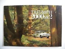 Catalogue / brochure TRIUMPH 2000 mk2 de 1970 en anglais