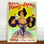 "Vintage French Perfume Poster Art ~ CANVAS PRINT 16x12"" Parfums Des Femmes"