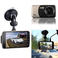 "4"" Dual Lens Camera HD 1080P 170° Car DVR Video Dash Cam Front Rear Recorder UK"