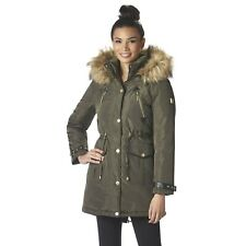 Rocawear Women's Plus Hooded Anorak Winter Jacket, Size Medium, Green