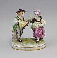 8340216 Porzellan Figur Händlerpaar Rokoko Älteste Volkstedt