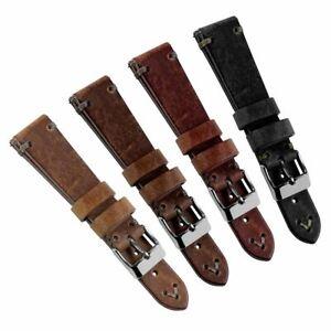 Geckota® Simple Handmade Short Quick Release Watch Strap 18mm & 20mm