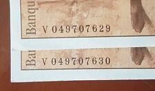 RARE Suite de 2 Billets 100 francs Paul Cézanne 1998 numéros consécutifs