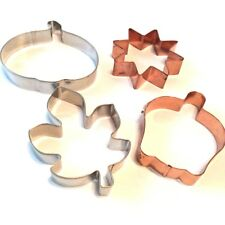 New listing Fall Cookie Cutters,Copper and Aluminum,Leaf,Sun,Apple,P umpkin,Large Cookies