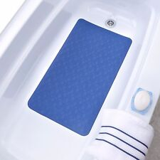Medium, Large & Extra Long Rubber Bath Safety Mat with Suction Cups for Tubs