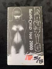 DANZIG SATANS CHILD TOUR 2000 VIP 5/13 CONCERT   PASS  BADGE