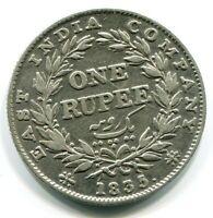 1835 BRITISH INDIA ONE RUPEE Silver EAST INDIA COMPANY #W10315.15EW