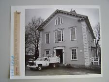 Vtg Glossy Press Photo Sherborn MA 3/28/? The Town Hall Building Site of new PO