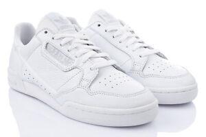 ADIDAS CONTINENTAL 80 Chaussures de Sport Baskets 46,5 47,5 Cuir Blanc Soldes