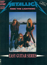 METALLICA-RIDE THE LIGHTENING-EASY GUITAR TAB W/RIFFS/VOCAL MUSIC BOOK 1984 RARE