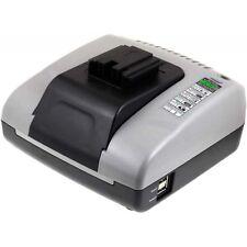 Powery Akku-Ladegerät mit USB für AEG Typ System 3000 BXS12 7,2V-18V   Grau