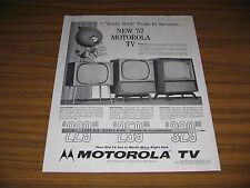 1957 Print Ad Motorola TV Sets Televisions Consolette,Swivelette,Console