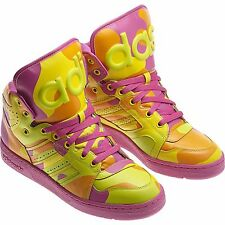 ADIDAS ORIGINALS JEREMY SCOTT INSTINCT HI NEON MEN'S SHOES SIZE US 10 G95754