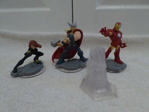 Disney Infinity - Marvel - Thor, Iron Man, Black Widow - Used, Good Condition