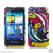 BlackBerry Z10 Laguna Snap-On Case Cover Accessory Groovy Dolphins Pizato