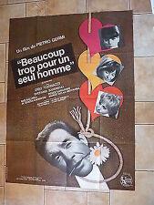 Affiche 120 X 160 Beaucoup trop pour un seul homme de Pietro Germi 1967 BE