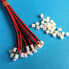 Mini Micro JST 2.0 PH 2 Pin Connector plug with Wires Cables 50 SETS