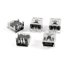 10pcs Mini USB Female Right Angle 5 Pins DIP PCB Socket DIY ASS