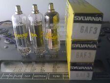 (3) Vacuum Tube ~ 6Af3 ~ Sylvania ~ Nos ~Lot Free Shipping!