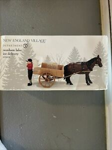 Department 56 New England Village Accessory ~ Wenham Lake Ice Delivery #4056658