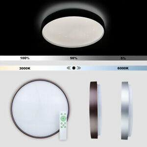 Dimmable Flush LED Ceiling Light With Remote Control Adjustable CCT 3000K-6000K