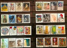 Lot of France Painting Stamps Used